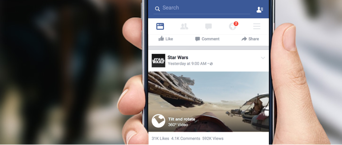 360 in News Feed Facebook Adverstising