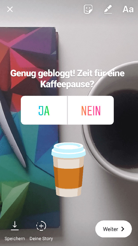 Screenshot 3 - Instagram-Umfragen