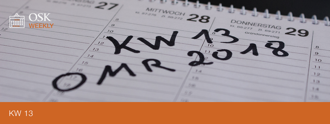osk weekly kw 13 omr 2018 berzeugt trotz wenig neuer themen. Black Bedroom Furniture Sets. Home Design Ideas
